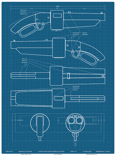 Hvd props team fortress 2 scattergun prop build i began this prop a little differently than i have in the past choosing to create a set of blueprints to work from using orthographic views i took from malvernweather Images