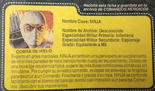 Cobra De Hielo, Ice Cobra, Argentina, Plastirama, Stormshadow, Filecard, Translation