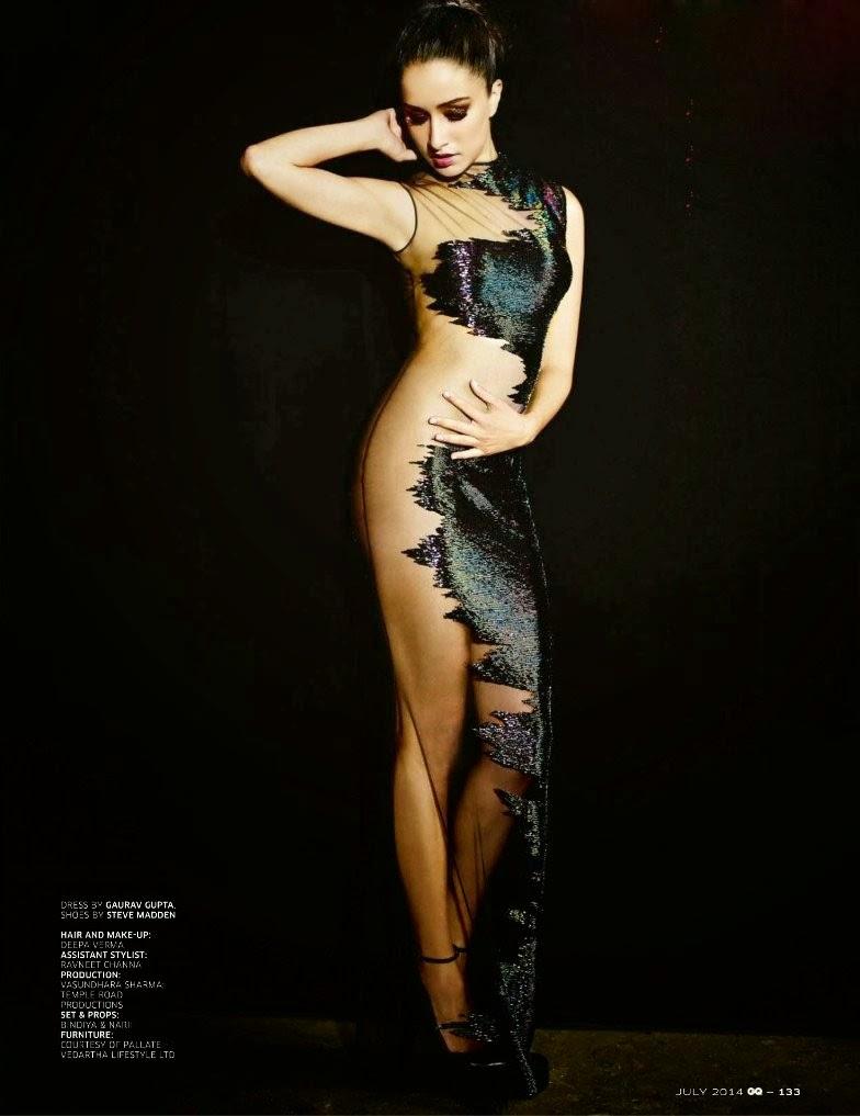 Shraddha Kapoor's GQ India Magazine July 2014 Scan