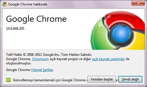 Google Chrome 11 Tam Sürüm