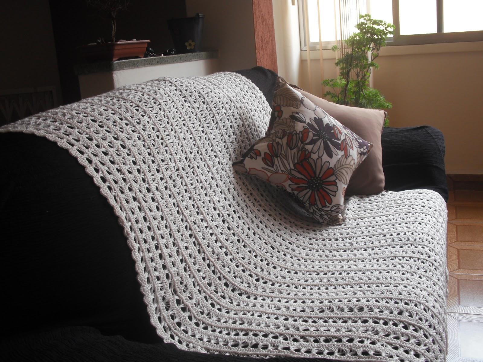 Gutierrez artes diversas manta de crochet para sof - Manta de sofa ...