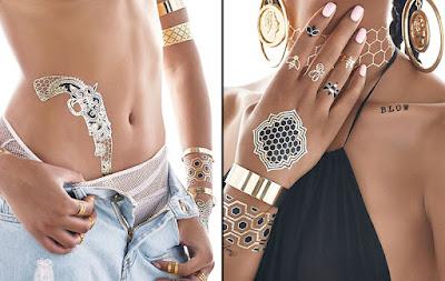 Beyoncé e as Flash Tattoos - tatuagens temporárias