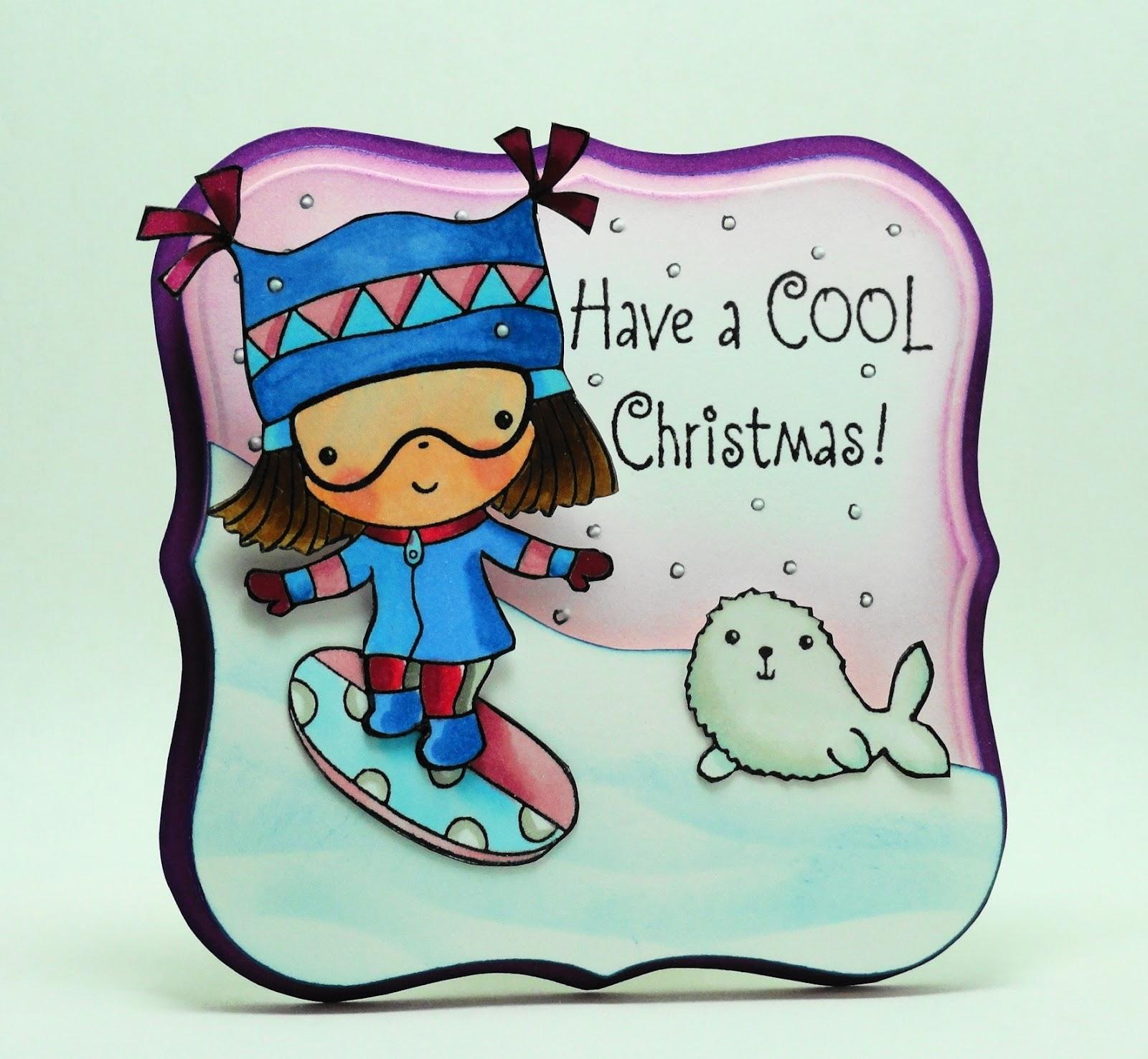 Elizabeth Allans Art Studio A Cool Christmas Cards For Kids