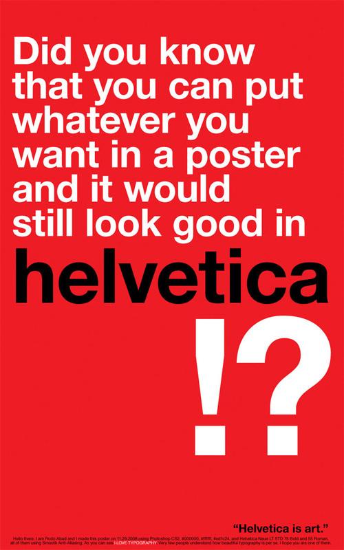 Helvetica Is Art