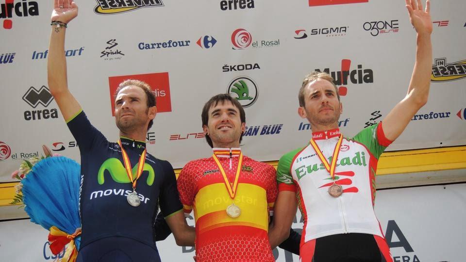 Podium Campeonatos España ruta 2014