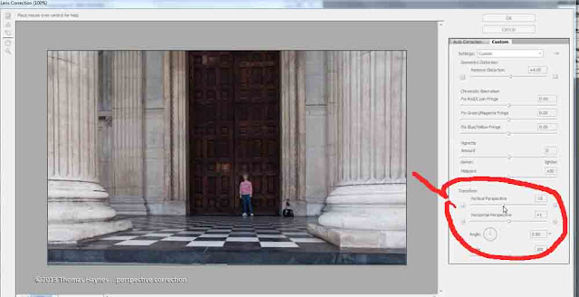Screen shot of distortion correction software window.