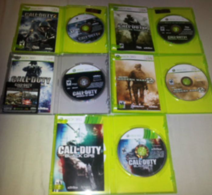 lot of 5 call of duty collection games my xbox shop lowest prices on xbox 360 products. Black Bedroom Furniture Sets. Home Design Ideas