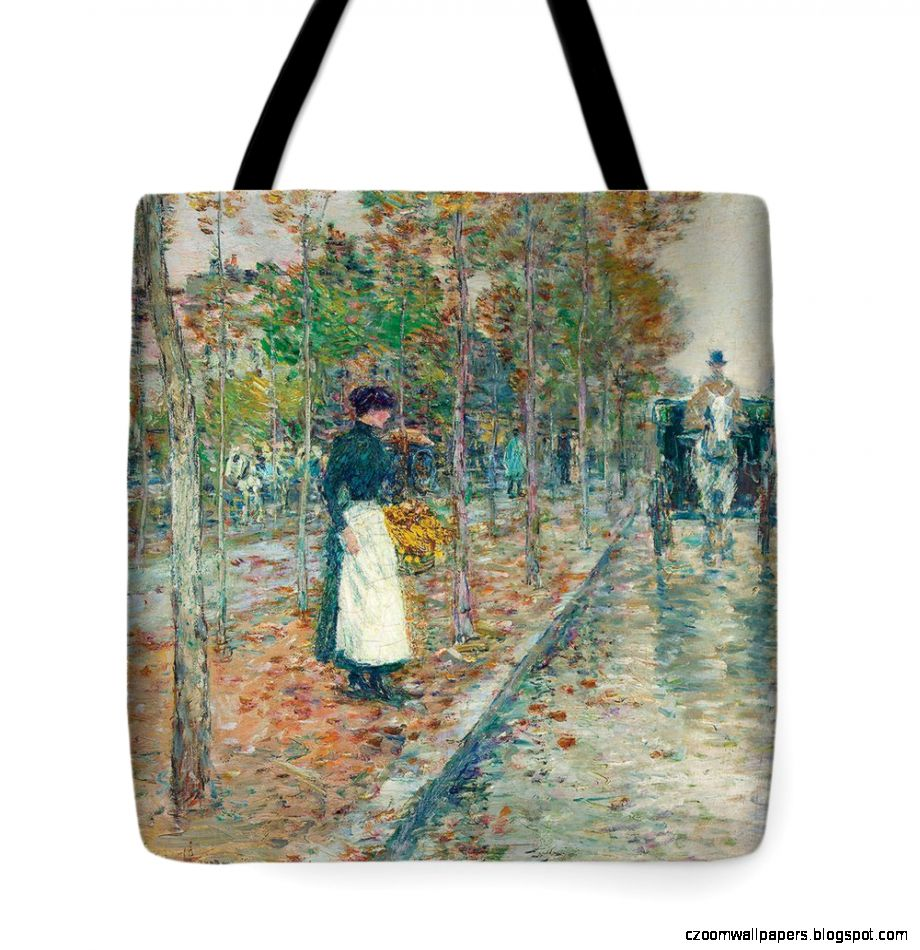 Autumn Boulevard In Paris Tote Bag for Sale by Childe Hassam