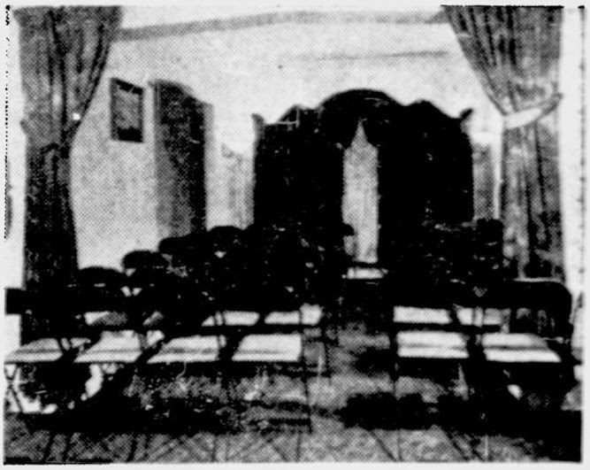The original funeral home chapel 1930-1947. (My apologies on the quality of some of these photos, they are taken from old photocopies and/or newspapers. I did the best I could with them).