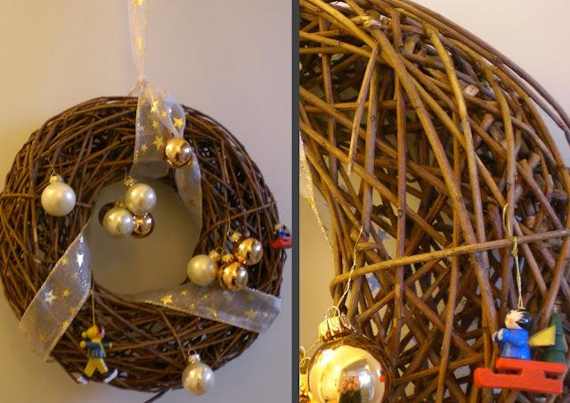Weihnachten Weihnachtskugeln Holzfiguren