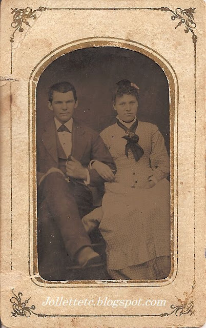 Unknown couple pictured in photo album of Mary Jollett Davis