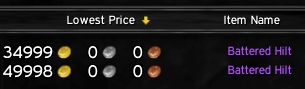 battered hilt price solo farming