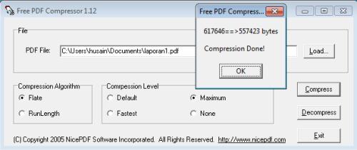 ... Free PDF Compressor 1.12 : Software Untuk Memperkecil Ukuran File PDF