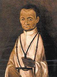 Verdadera imagen de Fray Martín de Porres, pintura del Monasterio de Santa Rosa de las Monjas de Lima.