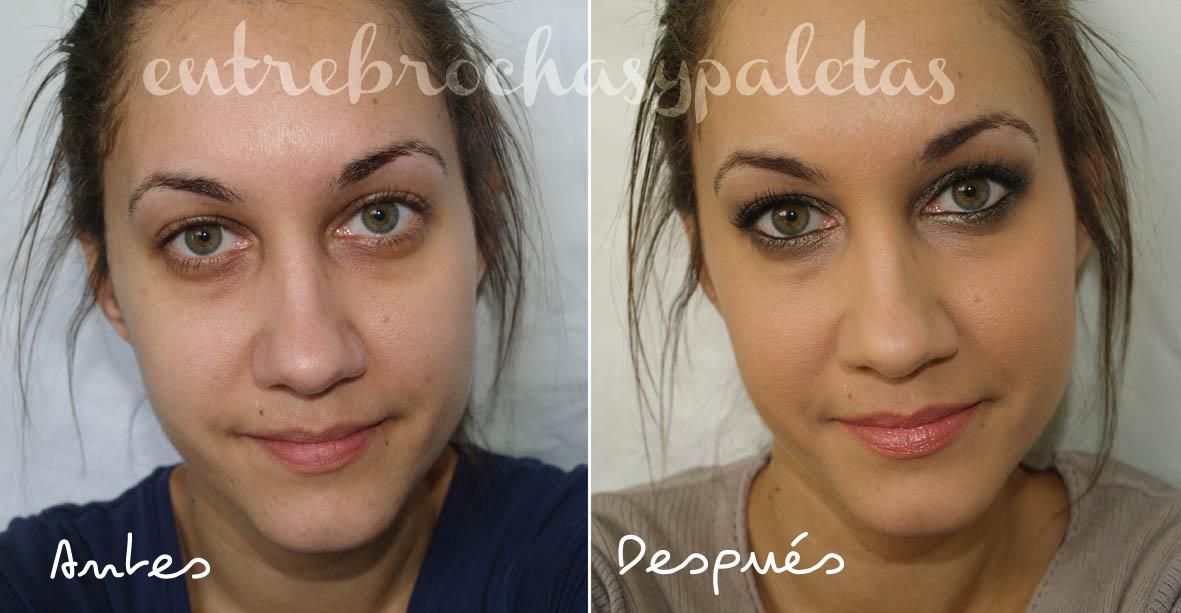 maquillaje en verdes antes y despues