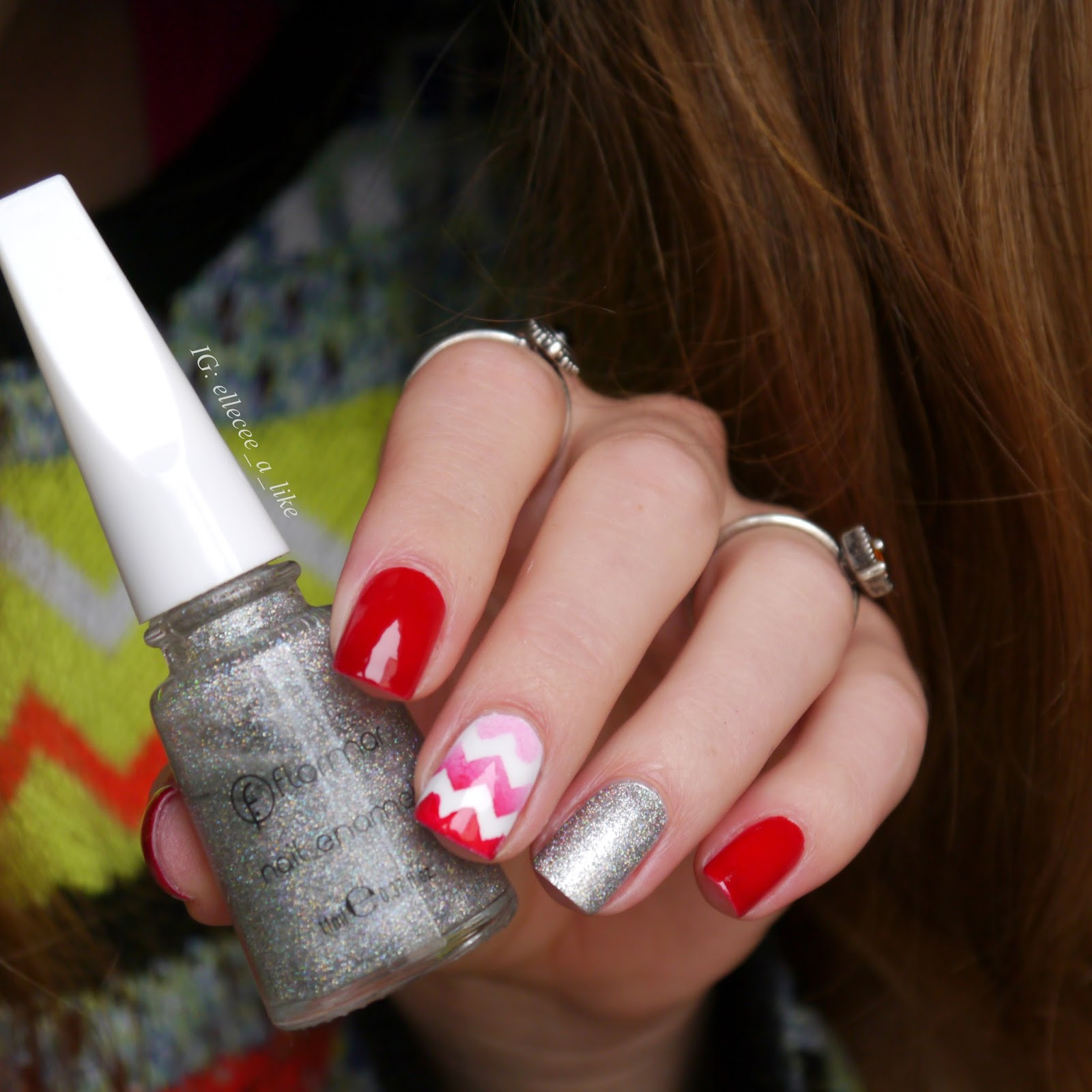 lack-a-like: Skittle Nails in Rot und Silber