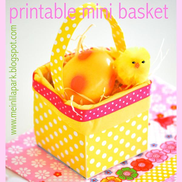 Free Printable Mini Easter Basket Ausdruckbarer