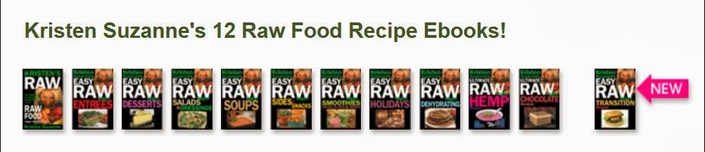 Kristen Suzanne's 12 Raw Food Recipe Ebooks!