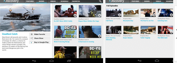 Discovery channel for android