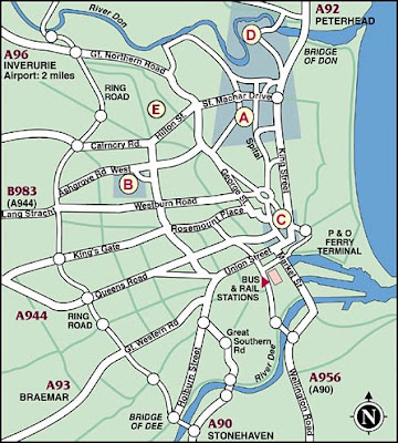 Map of Aberdeen City Pictures