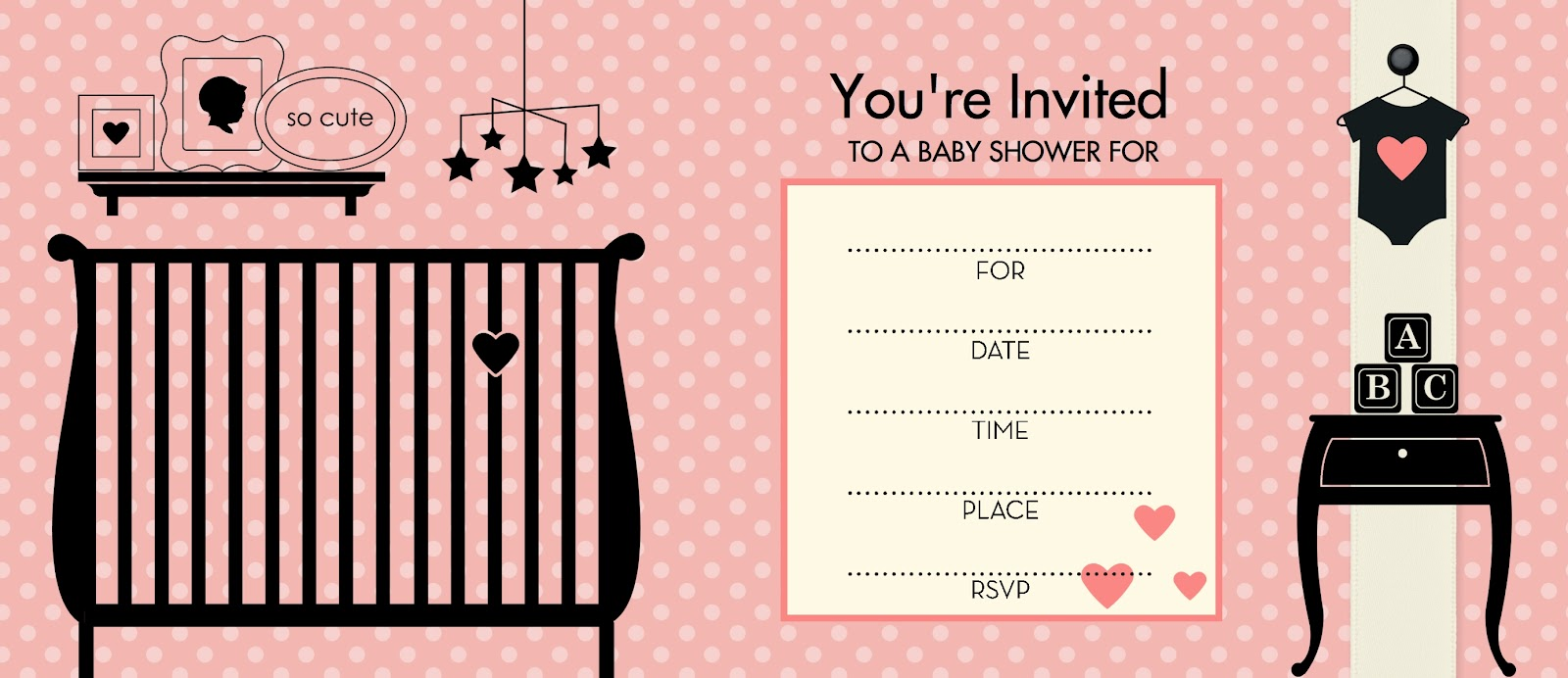 Blank baby shower invitation template – Free Baby Shower Invitations Templates for Word
