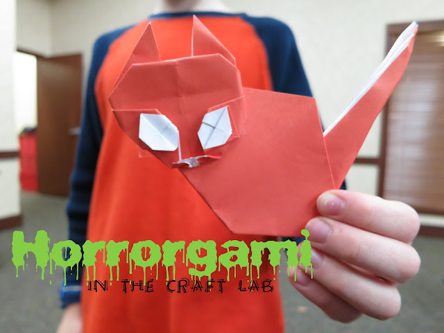 http://librarymakers.blogspot.com/2012/10/craft-lab-horrorgami.html
