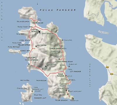 (Malaysia) - Pangkor Island Map