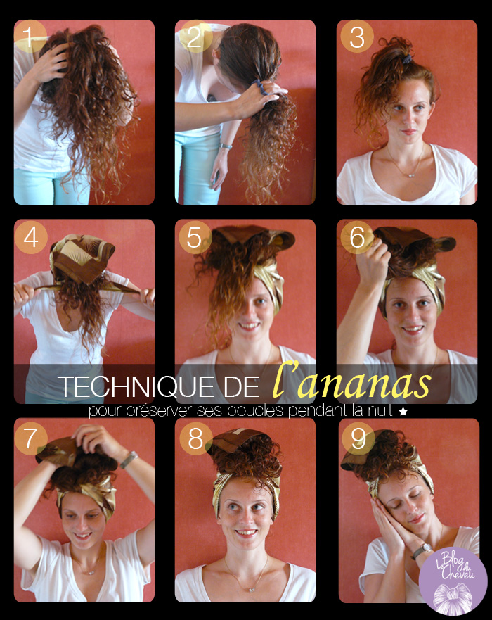 le blog du cheveu coiffure ananas prot ger ses boucles. Black Bedroom Furniture Sets. Home Design Ideas