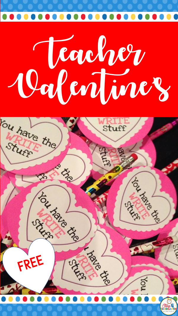 free and easy teacher valentines for students