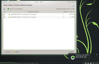 openSUSE 12.3 DARTMOUTH KDE RC1 Apper Notification