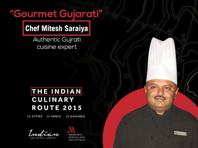 Indian Culinary Route Whitefield Marriott Bangalore, Chef Mitesh Saraiya