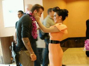 Foto Syahrini And David Beckham