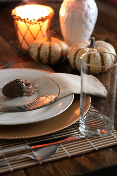 A Simple, Inexpensive & Elegant Thanksgiving Table Setting pitterandglink.com