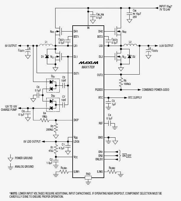 Power-Supply Controller Circuit Diagram