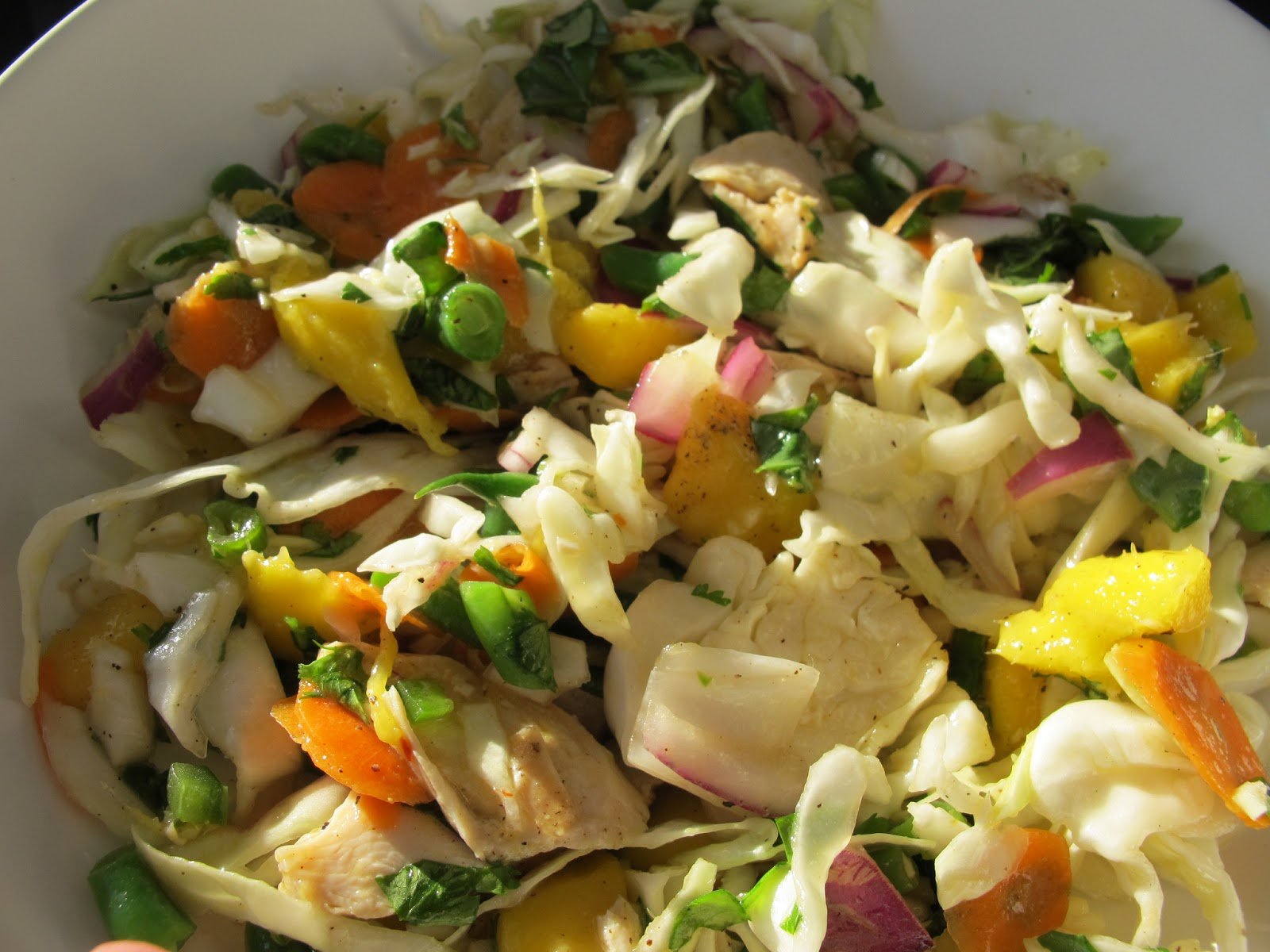 More time at the table vietnamese chicken salad with mango for Healthwise fish oil