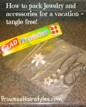 how to pack jewelry and hair accessories tangle free