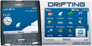 drifting c3 theme by zb Download Tema Nokia C3 Gratis