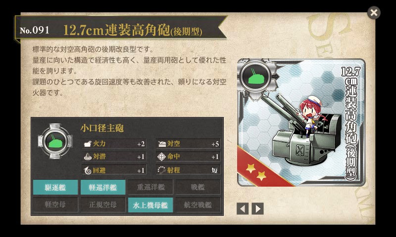 浦風牧場 12.7cm連装高角砲(後期型)量産化計画 | 艦これ攻略日誌 ~艦ろぐ~ 艦これ攻略