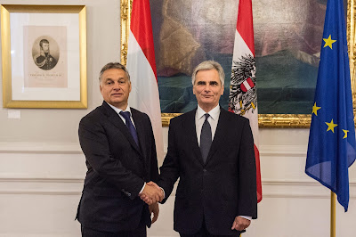 Orbán Viktor, Magyarország, Ausztria, diplomácia, Werner Faymann, menekültválság, határkerítés,