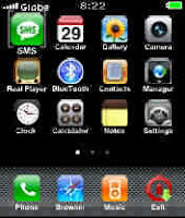 iphone menu dan cool clock s60v2