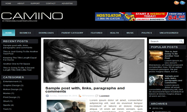 Camino 3 Column Blogger Template