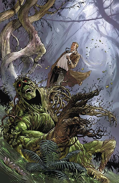 SWAMP THING #22 cover by Guillem March
