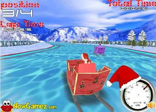 juego del trineo de Papa Noel