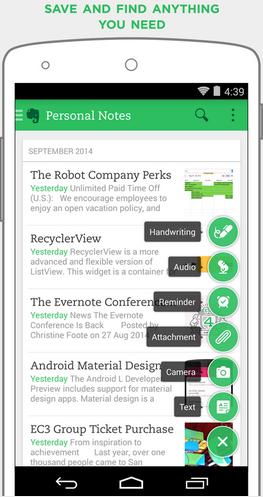 Evernote - Aplikasi Note Android Terbaik Gratis