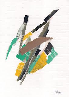 Eliso Silva, collage, artista plástico venezolano,negro , rasgado, beautiful, blanco, obras de arte, venezuela, venta, multicolor, amarillo