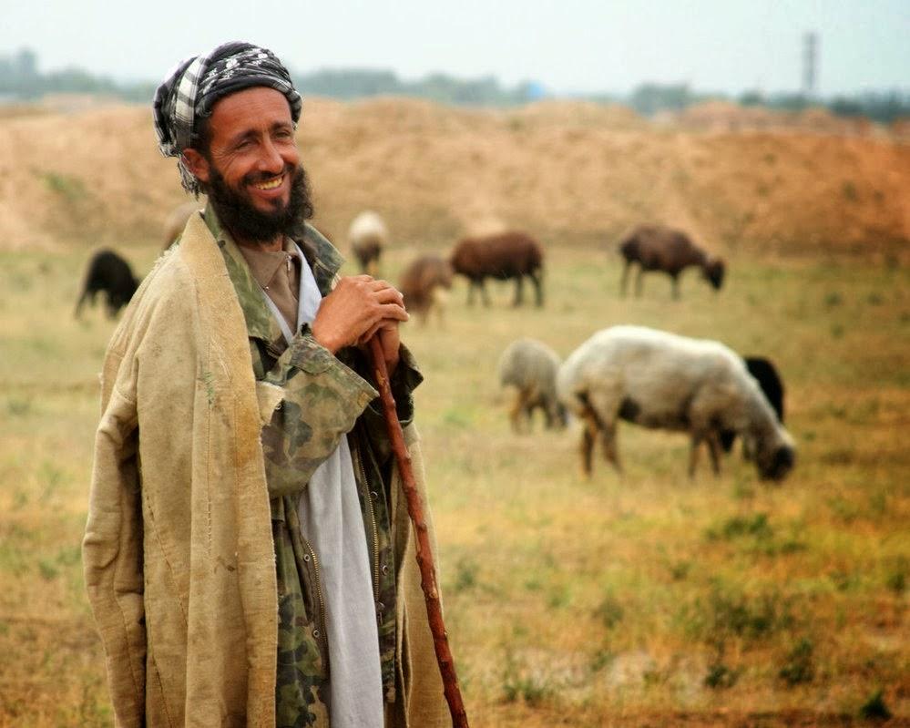 Y pastores palestinos encantados de la vida