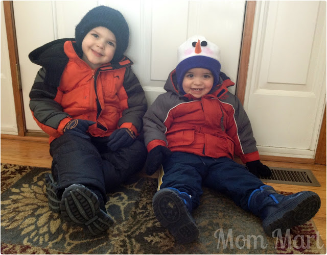 Kids ready for snow day