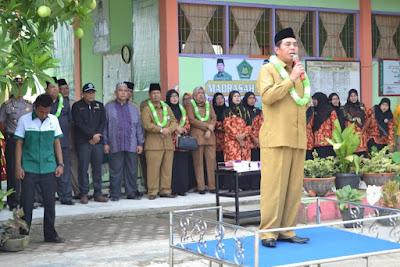 Kemenag Tanjungbalai Laksanakan Apel Siaga Madrasah Anti Narkoba