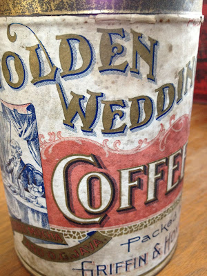 Golden Wedding Coffee Tin by the Ennis-Hanly-Blackburn Coffee Co. Kansas City