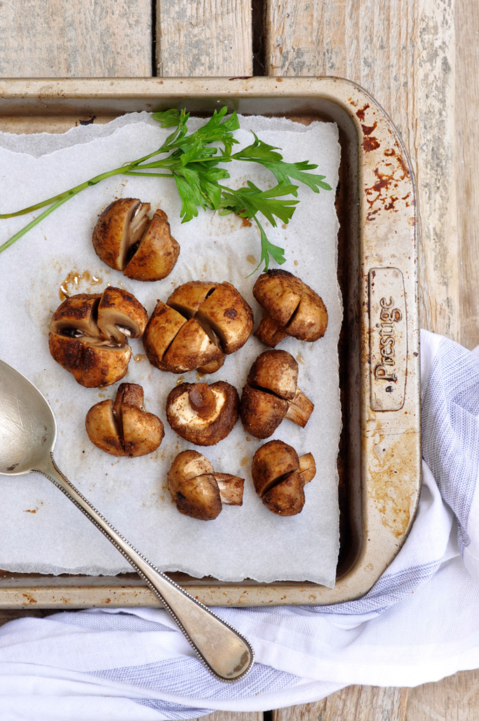 Anja's Food 4 Thought: Moroccan Spiced Roasted Mushrooms